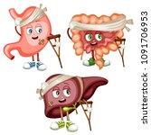 cartoon illustration of sad... | Shutterstock .eps vector #1091706953