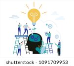 development process to success. ... | Shutterstock .eps vector #1091709953