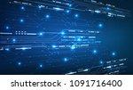 vector abstract background... | Shutterstock .eps vector #1091716400