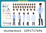scientist character creation... | Shutterstock .eps vector #1091717696