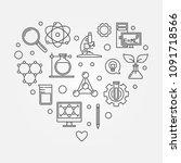 science heart vector creative... | Shutterstock .eps vector #1091718566