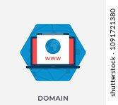 domain flat banner for websites.... | Shutterstock .eps vector #1091721380