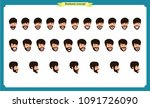 set of male facial emotions.... | Shutterstock .eps vector #1091726090