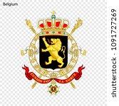 symbol of belgium. national... | Shutterstock .eps vector #1091727269