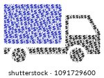 delivery lorry composition of...   Shutterstock .eps vector #1091729600
