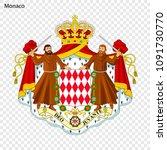 symbol of monaco. national... | Shutterstock .eps vector #1091730770