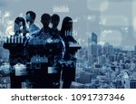 professional occupation concept. | Shutterstock . vector #1091737346