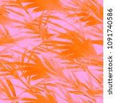 tropical watercolour seamless... | Shutterstock . vector #1091740586