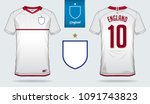 set of soccer jersey or... | Shutterstock .eps vector #1091743823