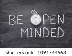 be open minded phrase... | Shutterstock . vector #1091744963