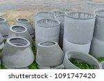 concrete rings on the...   Shutterstock . vector #1091747420