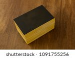 a mockup for a stack of black... | Shutterstock . vector #1091755256
