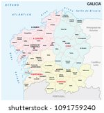 galicia administrative and... | Shutterstock .eps vector #1091759240