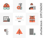 modern flat icons set of civil... | Shutterstock .eps vector #1091760650