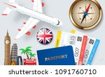 banner concept for travel and... | Shutterstock .eps vector #1091760710