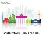 germany landmark global travel... | Shutterstock .eps vector #1091765108
