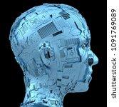 3d rendering  robotics and... | Shutterstock . vector #1091769089