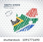 map of south africa with hand... | Shutterstock .eps vector #1091771690