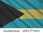 bahamas flag printed on a... | Shutterstock . vector #1091777693