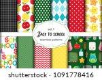 cute set of back to school... | Shutterstock .eps vector #1091778416
