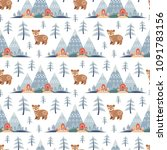 decorative seamless pattern in... | Shutterstock .eps vector #1091783156
