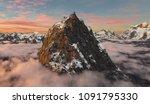 3d Rendering Of A Giant Peak...