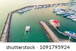 aerial view of yacht marina | Shutterstock . vector #1091795924
