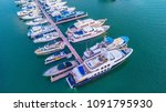 aerial view of yacht marina | Shutterstock . vector #1091795930