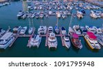aerial view of yacht marina | Shutterstock . vector #1091795948