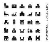 vector building icons set in... | Shutterstock .eps vector #1091801393