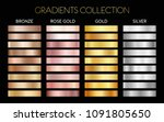 set of gold  silver  bronze and ... | Shutterstock .eps vector #1091805650