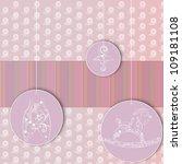 baby shower card   Shutterstock . vector #109181108