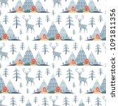 decorative seamless pattern in... | Shutterstock .eps vector #1091811356