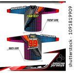 long sleeve motocross jerseys t ... | Shutterstock .eps vector #1091819909