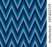 chevron abstract knitted... | Shutterstock .eps vector #1091822729
