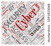 conceptual cyber security... | Shutterstock . vector #1091823068