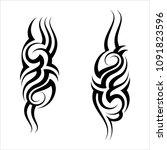 tribal armband tattoo design... | Shutterstock .eps vector #1091823596