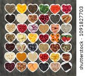 food to promote heart health... | Shutterstock . vector #1091827703