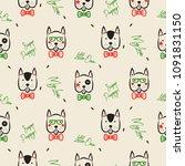 dachshund dog scandinavian... | Shutterstock .eps vector #1091831150