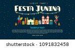 festa junina. vector templates... | Shutterstock .eps vector #1091832458