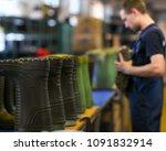 rubber boots footwear... | Shutterstock . vector #1091832914