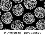 traditional black and white... | Shutterstock .eps vector #1091835599