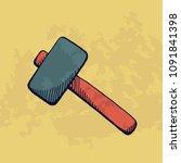 hammer for construction. vector ... | Shutterstock .eps vector #1091841398