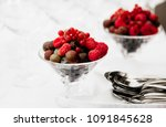 fruits and desserts on the... | Shutterstock . vector #1091845628