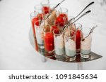 fruits and desserts on the... | Shutterstock . vector #1091845634