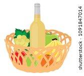 vector illustration wicker... | Shutterstock .eps vector #1091847014
