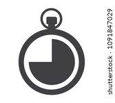 clock vector icon. stopwatch... | Shutterstock .eps vector #1091847029