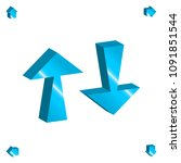 set of 3d arrow vector icons.... | Shutterstock .eps vector #1091851544