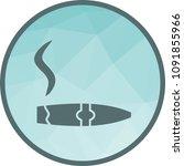 lit cigar lighter icon | Shutterstock .eps vector #1091855966