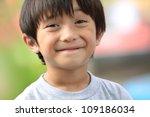 Close Up Portrait Of Cute Boy...